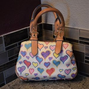DOONEY & BOURKE  Coated Canvas Heart Mini Satchel